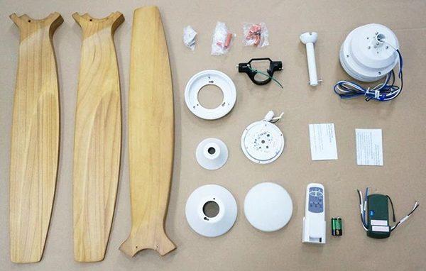 Các bộ phận của quạt trần đèn