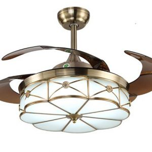 Quạt trần cánh cụp xòe IBCF-A10 là sự kết hợp hoàn hảo giữa quạt mát và đèn chiếu sáng.