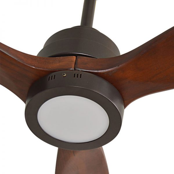 Quạt trần đèn cánh gỗ hiện đại
