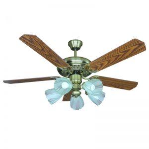Quạt trần đèn chùm cánh gỗ DCF-W5266PB (5C5L)Quạt trần đèn chùm cánh gỗ DCF-W5266PB (5C5L)