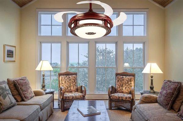 Quạt trần đèn phòng khách