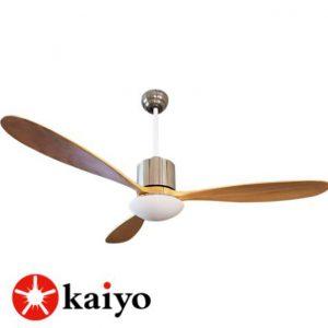Quạt trần gỗ Kaiyo OKI-2011 là sự kết hợp hoàn hảo giữa quạt mát và đèn chiếu sáng.