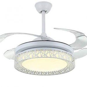 Quạt trần trang trí cánh cụp INCF-D02 là sự kết hợp hoàn hảo giữa quạt mát và đèn chiếu sáng.